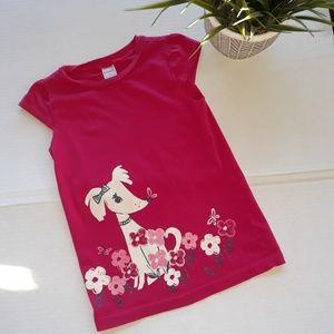 Gymboree Dog Short Sleeve Shirt  Size 6